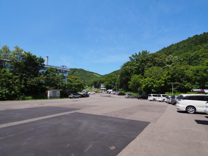 市民スキー場駐車場