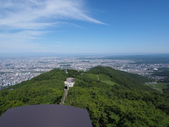 藻岩山展望台からの眺め(北東方向)