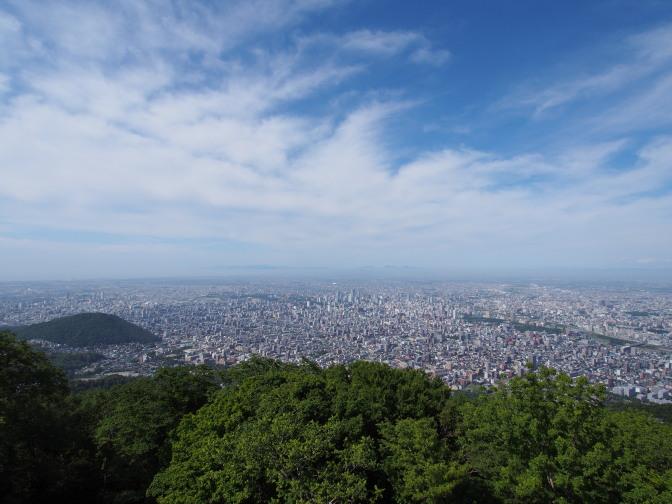 藻岩山展望台からの眺め(北方面)