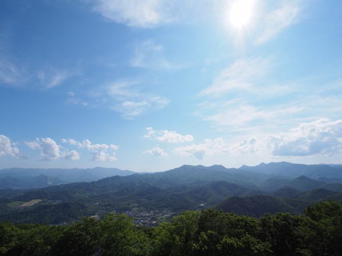 藻岩山展望台からの眺め(方面)