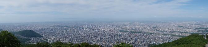藻岩山展望台からの眺め(方向)パノラマ