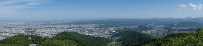藻岩山展望台からの眺め(南方向)パノラマ