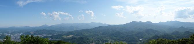 藻岩山展望台からの眺め(西方向)パノラマ