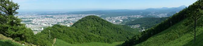 藻岩山スキー場ゲレンデからの眺め(パノラマ)