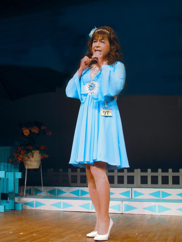 水色ショートドレスステージ(5)