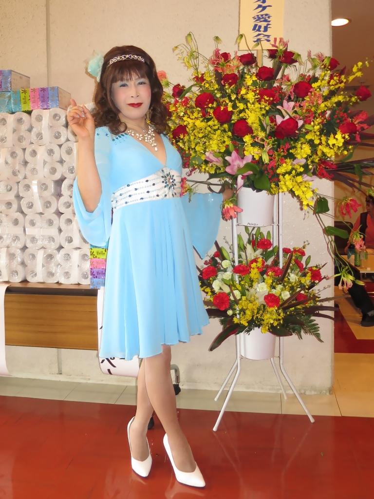 水色ショートドレスステージ(7)