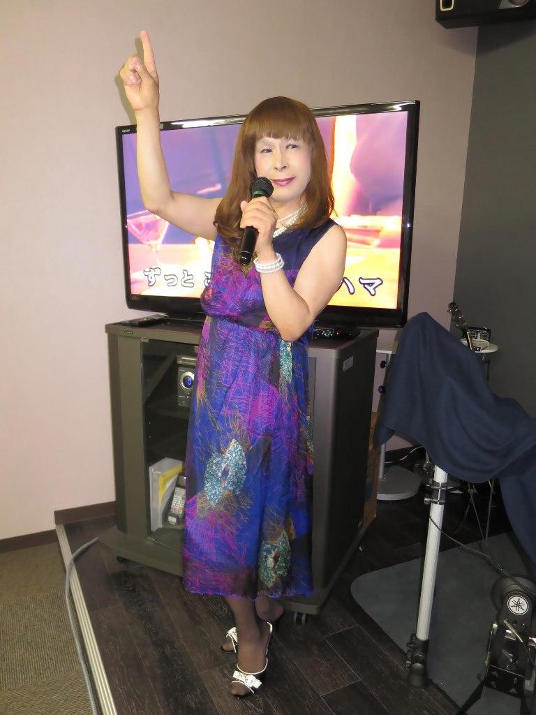 青紫シフォンドレスカラオケ(3)