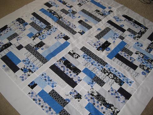 blue summer quilt