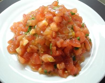201508冷製トマトパスタ