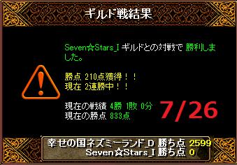 726ネズミーvsSeven☆Stars