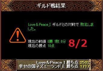 8月2日ネズミーvsLove&Peace