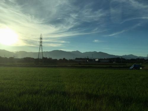 亀山の田園風景