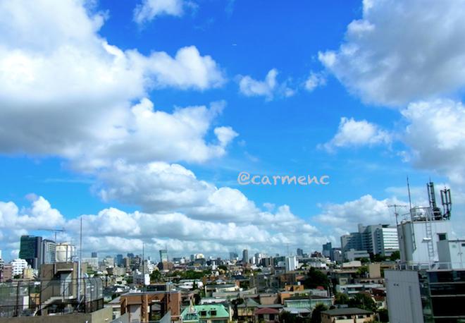新宿方面の空