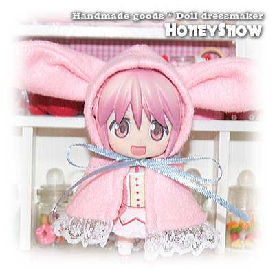HoneySnow 1/12DOLL 【アニマルケープ】 ウサギ ねんどろいど、1/6DOLL、もこちゃん、えっくすきゅーと、キューポッシュ