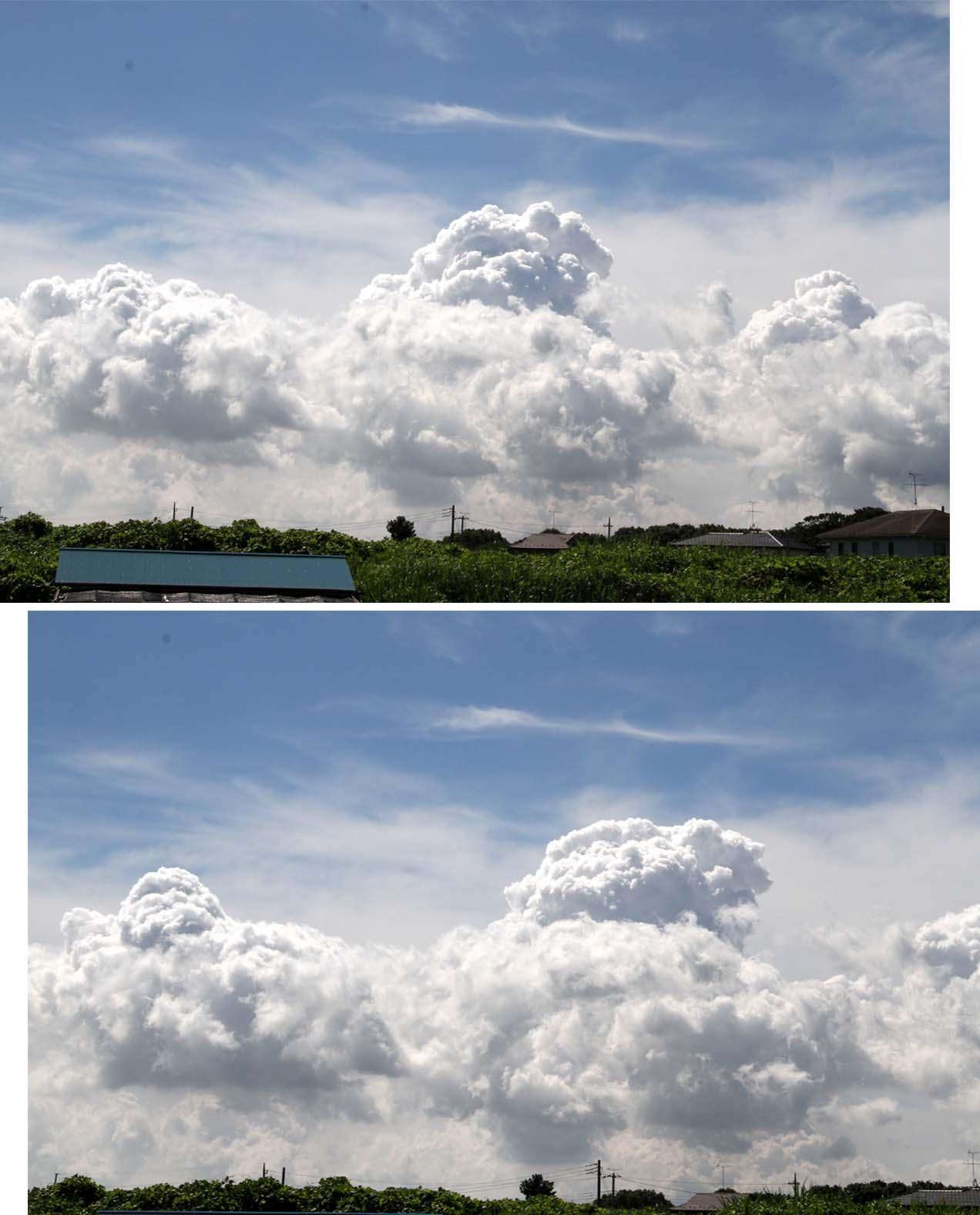 湧き上がる積雲