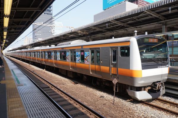 2015-08-03 中央線E233系トタT34編成 快速東京行き