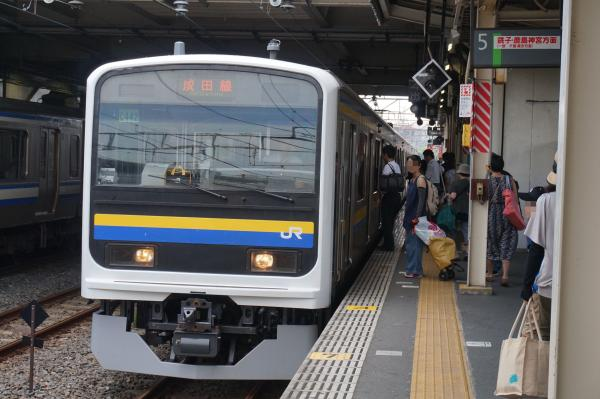 2015-08-03 房総地区209系マリC442編成 成田線銚子行き1