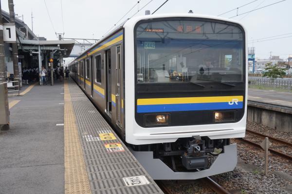 2015-08-03 房総地区209系マリC442編成 成田線銚子行き2