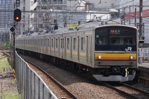2015-08-04 南武線205系ナハ36編成 快速立川行き