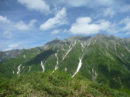 槍ヶ岳と山荘