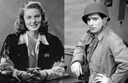 キャパとバーグマン。1944年。