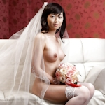 新婚の韓国美女のブライダルヌード画像