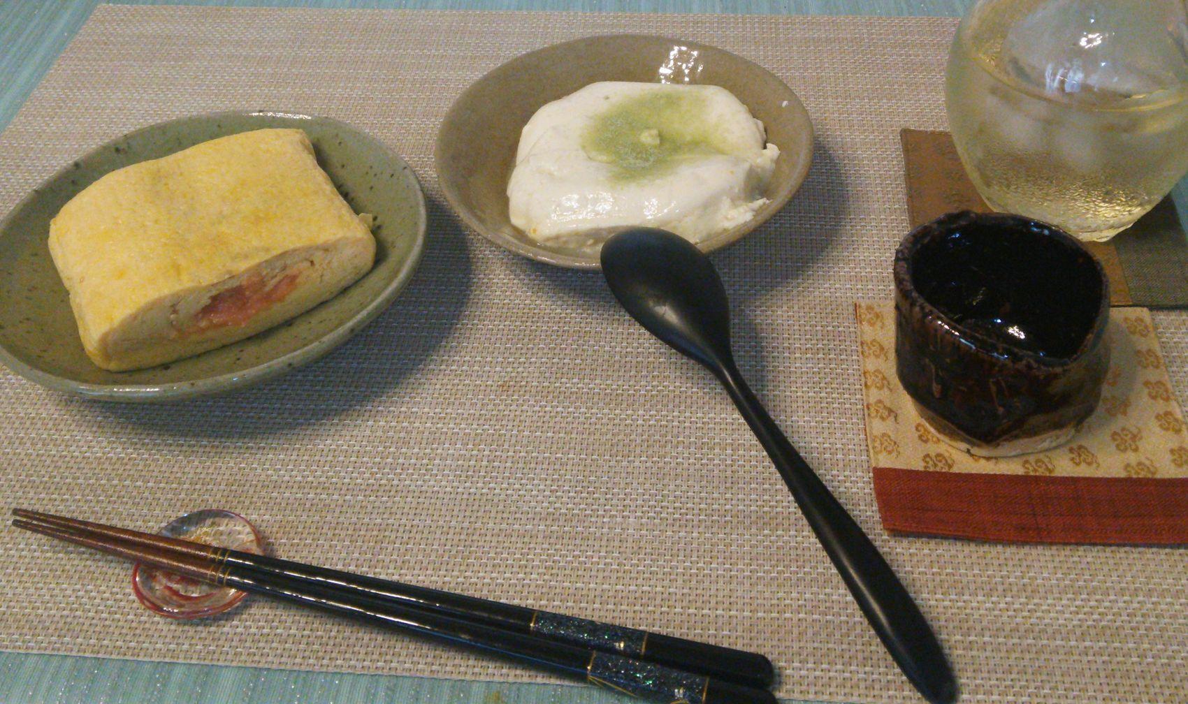明太子だし巻き柚子おぼろ豆腐