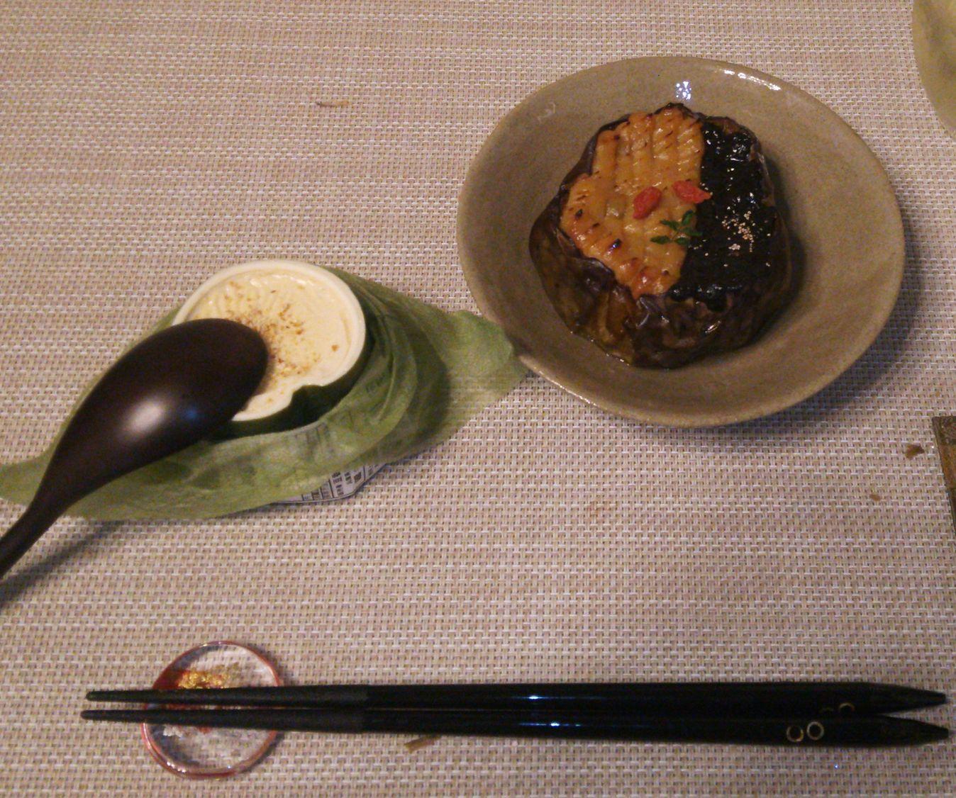加茂茄子田楽湯葉豆腐