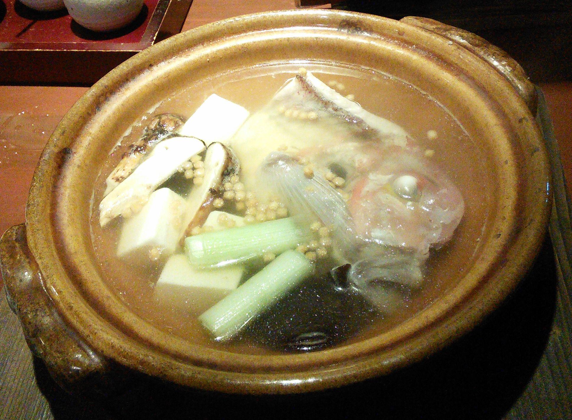 甘鯛と松茸の酒蒸し