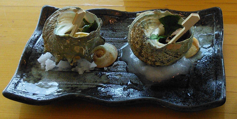 縄寿司サザエのつぼ焼き