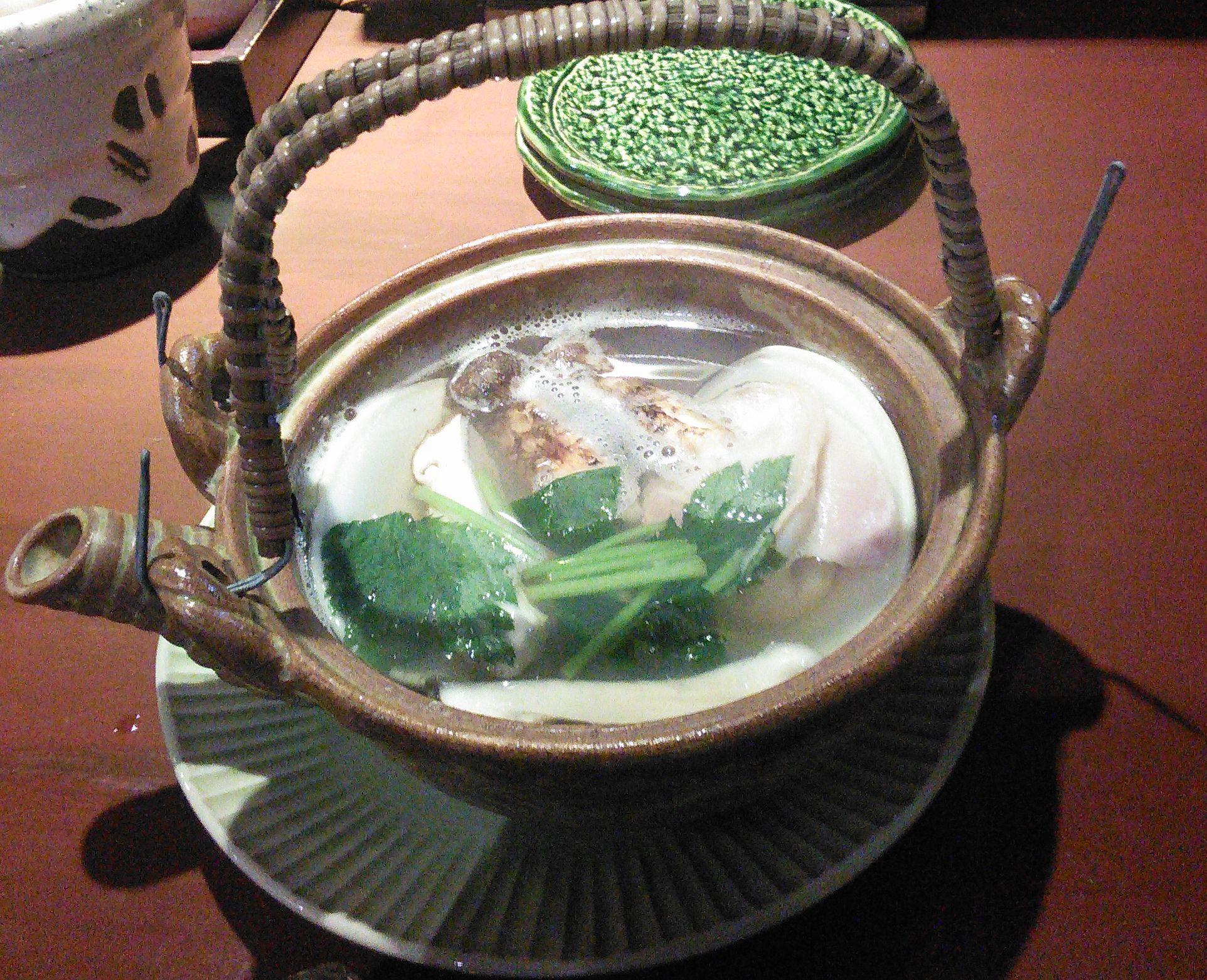 松茸蛤土瓶蒸し