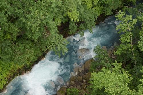 しらひげの滝②