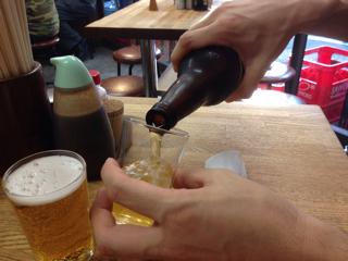 瓶ビール(アサヒ黒生)