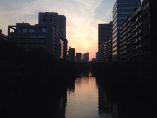 五反田の夕日