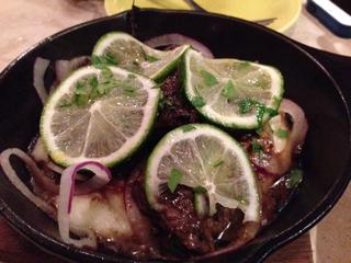 牛ハラミのサイコロステーキ ライム醤油