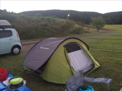 赤水公園 テント