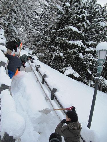 s-階段の除雪