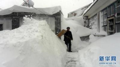 延慶県の雪1