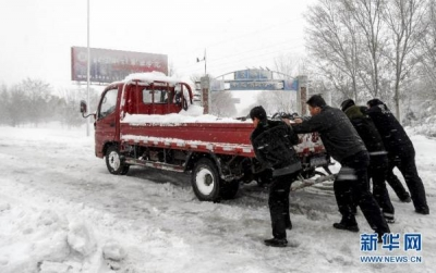 延慶県の雪3