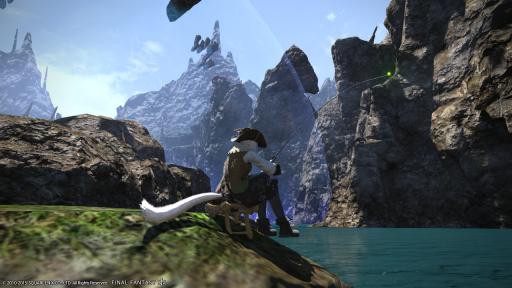 新生14 536日目 アレキの側で釣りをしながらおはようにゃ