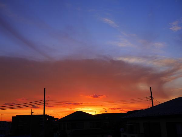 2層の夕焼け
