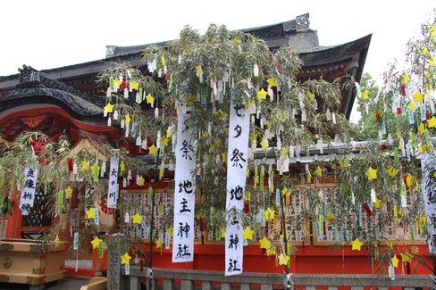 地主神社の七夕_H27.07.07撮影