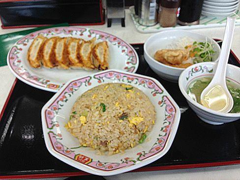 餃子の王将・駅前定食_H27.07.09撮影