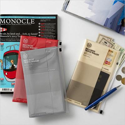 ハイエンドなロンドンのグローバル情報誌モノクル コラボレートのトラベルグッツ パスポートが入るトラベルオーガナイザーを通販購入