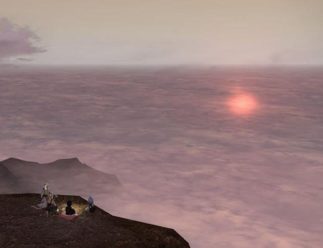 雲平線の太陽23