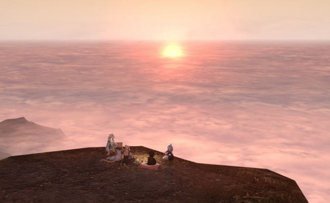雲平線の太陽24
