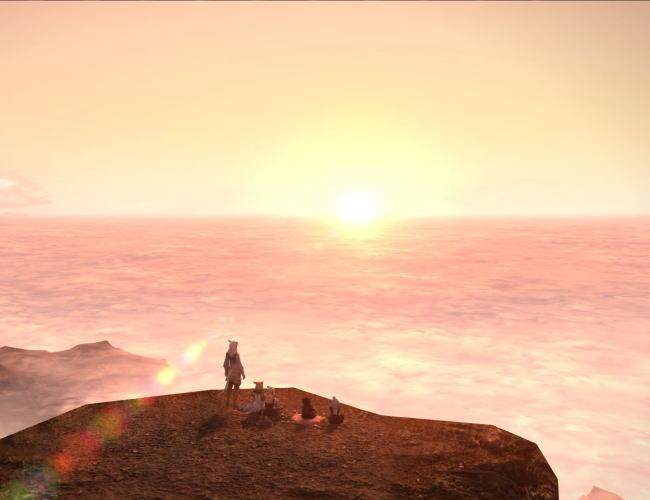 雲平線の太陽26