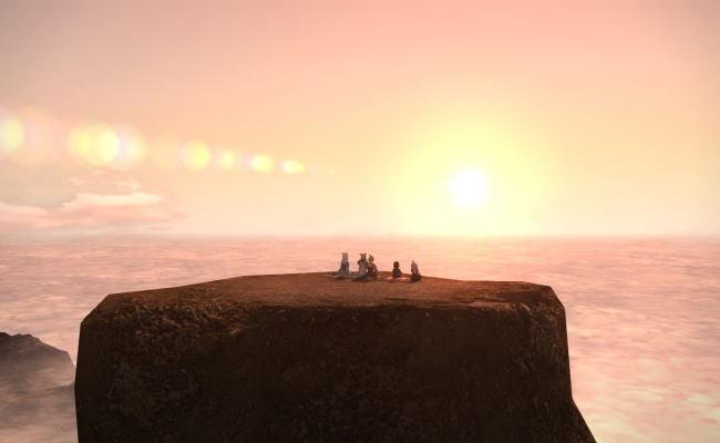 雲平線の太陽27