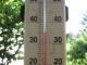 35℃まで上がった温度計