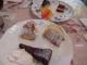 昼食のデザートのケーキ